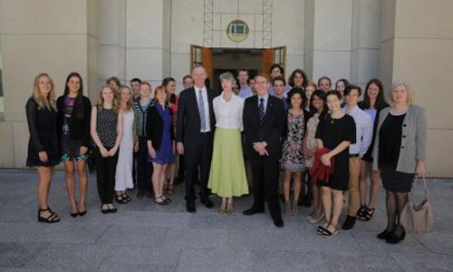 Lucy Kirk meets Tony Abbott
