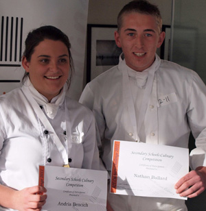 Hospitality: Andria Bencich and Nathan Ballard
