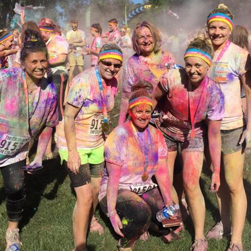 Staff in the color run