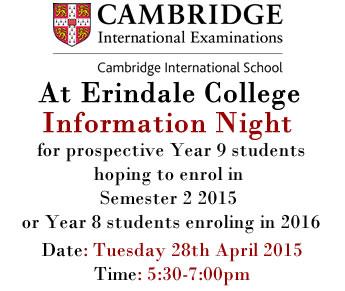 Cambridge Info Night: 28th April